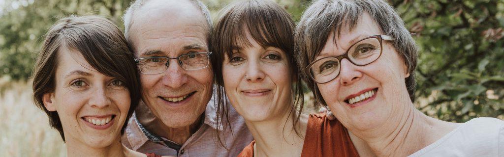 Familienfoto farbig Essen