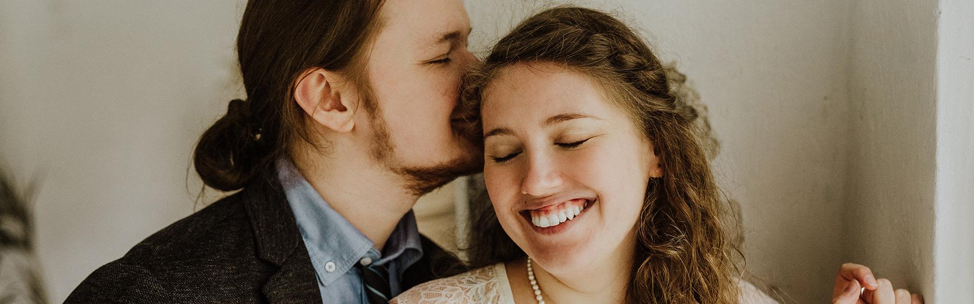 Hochzeitsfoto farbig Brautpaar Essen